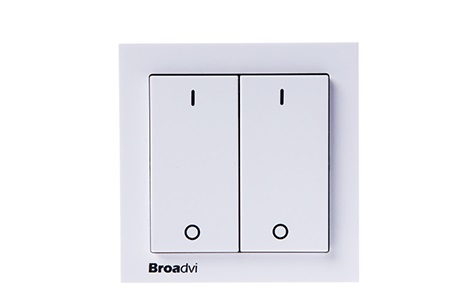 white double control wireless remote controlled light switch